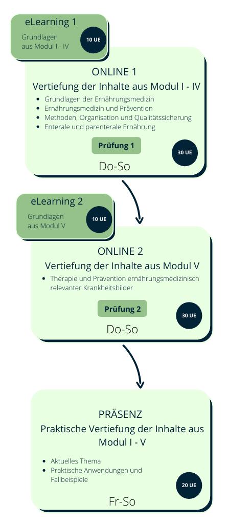 Grafik dualer Präsenz-Online-Kurs